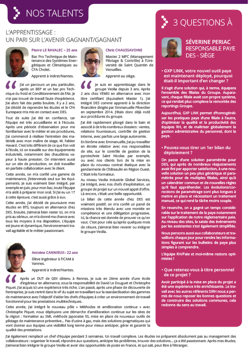 page nos talent de la newsletter DES