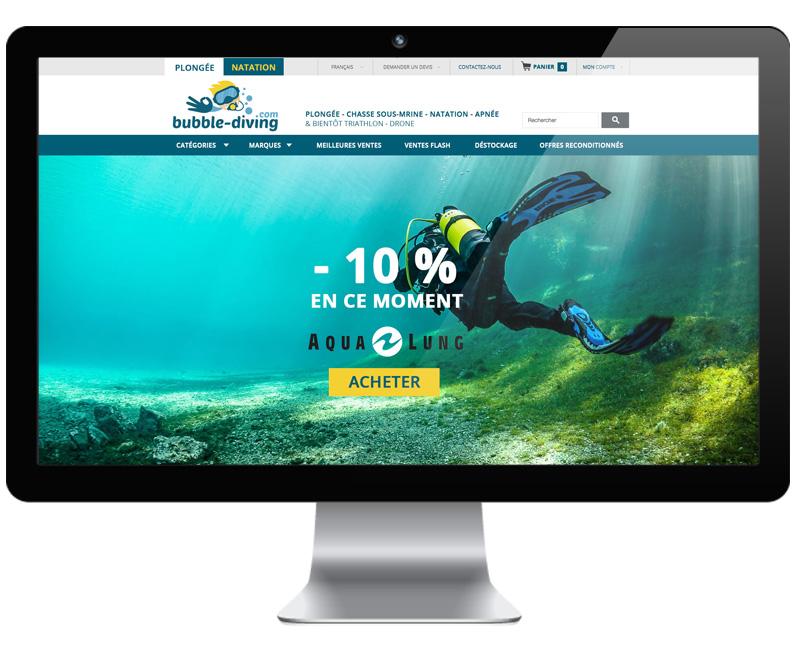 ecran d'accueil bubble-diving.com